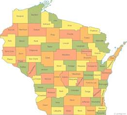 state map counties map of wisconsin