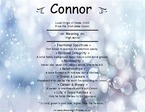 the meaning of the name connor meaning of name