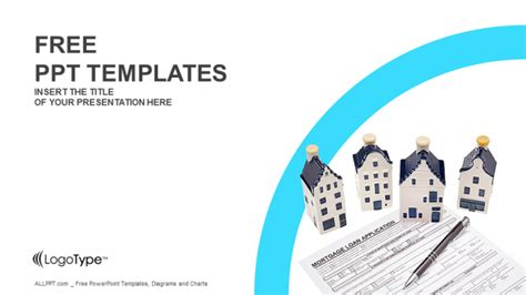 Ppt Templates For Loan | house with mortgage loan ppt templates