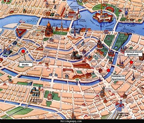st tourist map maps update 25001781 russian tourist attractions map