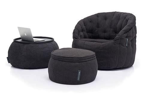 ambient lounge bean bag designer sets contempo package black sapphire bean
