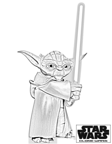 printable coloring pages of yoda clone wars yoda cartoon jr star wars pinterest