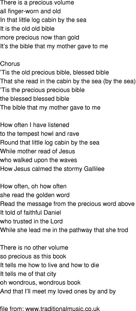 Songs About Cabins by Time Song Lyrics Bible In The Cabin By The Sea