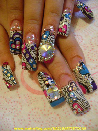imagenes de uñas acrilicas estilo sinaloa u 241 as acrilicas dise 241 os con piedras estilo sinaloa