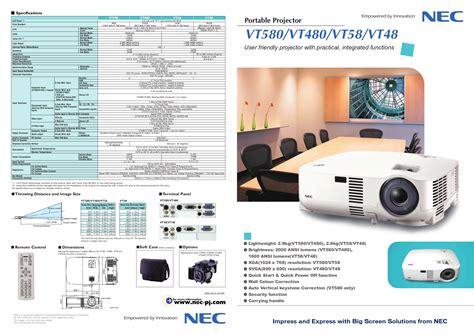 Proyektor Nec Vt48 Pdf Manual For Nec Projector Vt48