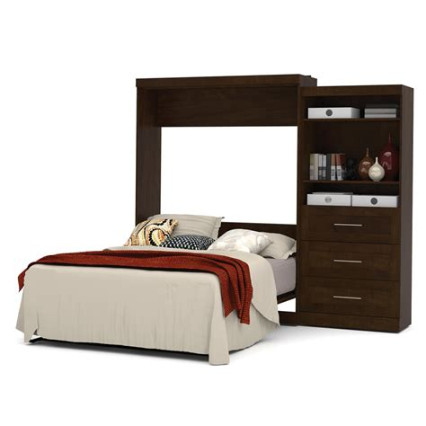 wall bed queen pur 101 quot queen wall bed kit in chocolate