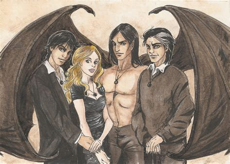 The Black Jewels Trilogy black series 5x7 family portrait by amberstoneart on deviantart