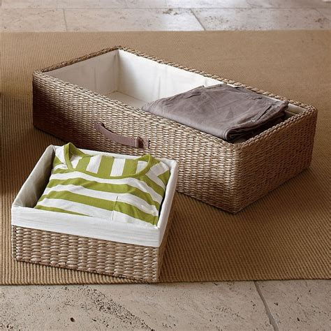 under bed storage baskets underbed storage 3 piece set the company store