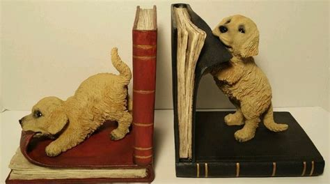 golden retriever bookends pin by barby williams on book ends
