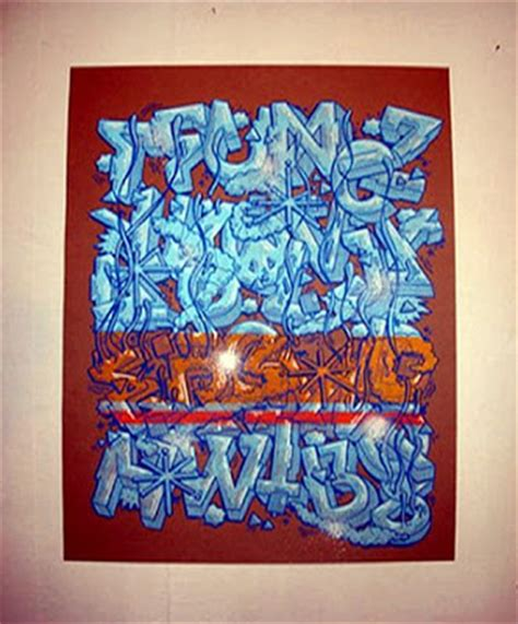 examples  graffiti alphabet letters  iced