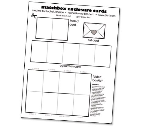 Free Enclosure Card Template by How Tuesday Matchbox Valentines