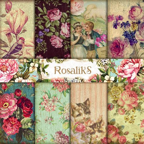 Can You Use Any Paper For Decoupage - provence digital paper pack scrapbook paper decoupage by