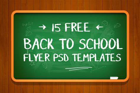 back to school templates 16 free back to school flyer psd templates designyep