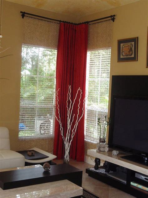corner window curtain corner window curtains styles of decorating ideas homesfeed
