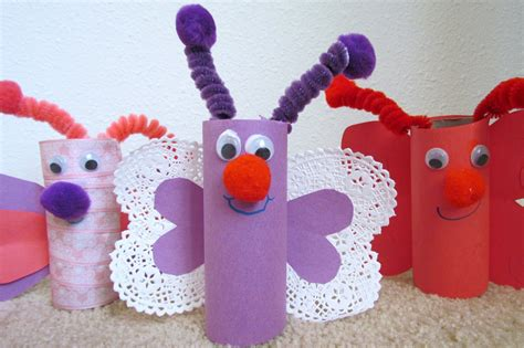 Butterfly Toilet Paper Roll Craft - learn to grow how to make a butterfly from toilet paper
