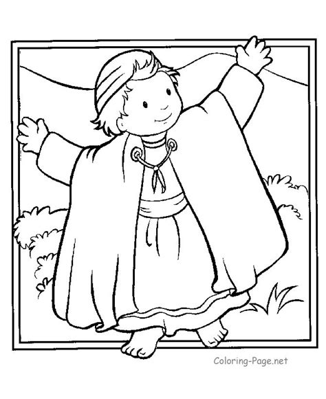 coloring sheets for joseph joseph coat bible coloring pages printables free coloring