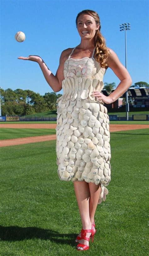 Dress Dress By Mlb yes this dress is made entirely out of baseballs mlb
