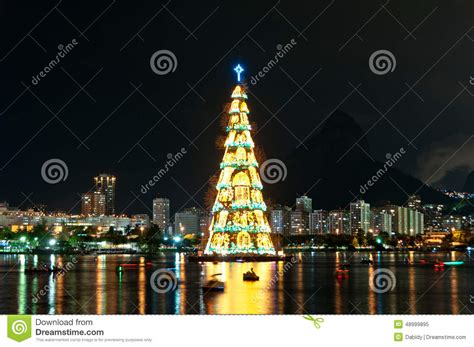 xmas tree structure tree structure in de janeiro stock photo image 48999895