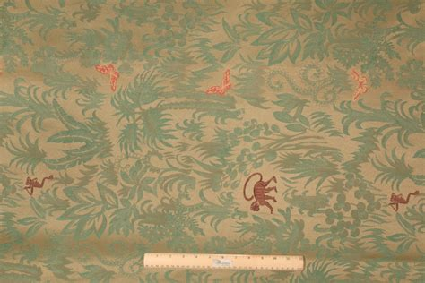 Monkey Upholstery Fabric by 1 62 Yards Cone Cj 7736 Monkey Tapestry Upholstery Fabric