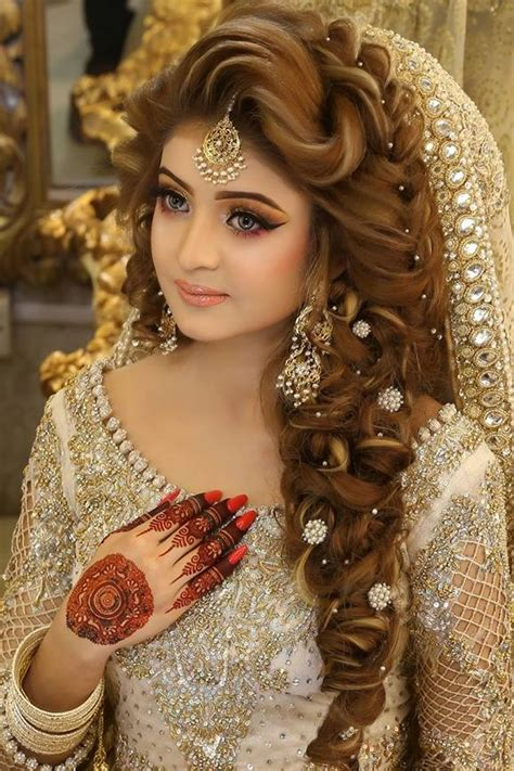 bridal hairstyles in pakistan kashee s spring bridal makeup hairstyle 2017