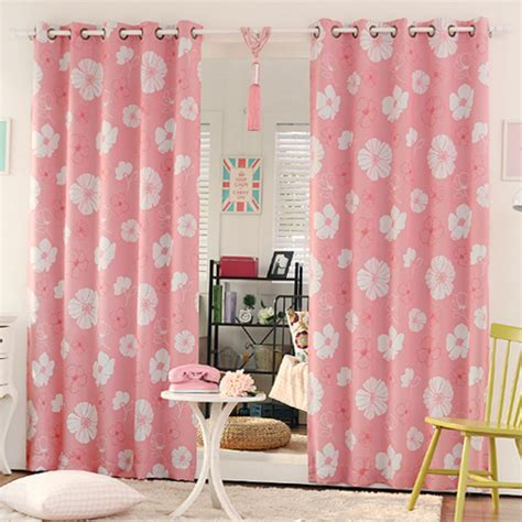 beautiful bedroom curtains pink floral print poly cotton blend beautiful bedroom curtains