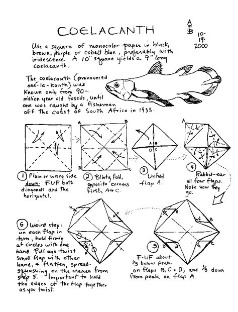 Origami Trout - origami trout tutorial origami handmade