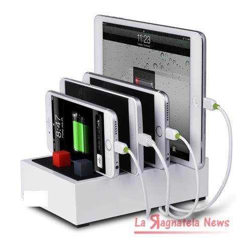 Multi Device Charging Station And Cord Organizer stazione di ricarica per smartphone e tablet pi 249 ordine