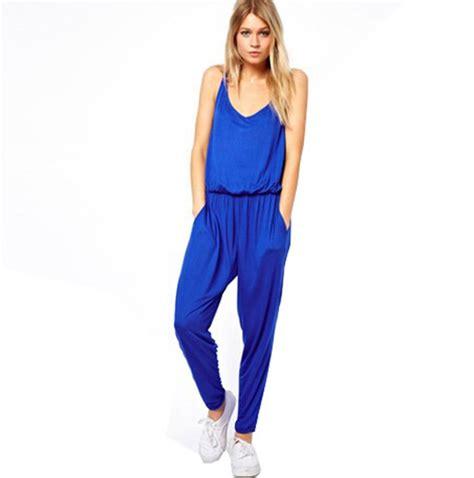 aliexpress jumpsuit new 2014 summer cotton solid jumpsuit sleeveless spaghetti