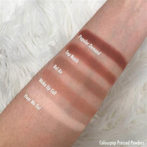 Colourpop Metallic Pressed Powder colourpop pressed powders swatches review beautypeadia