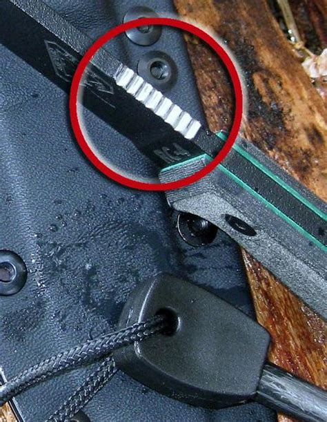 best firesteel how to turn your esee knife into a firesteel striker