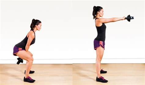 dumbbell arm swings kettlebell exercises for women