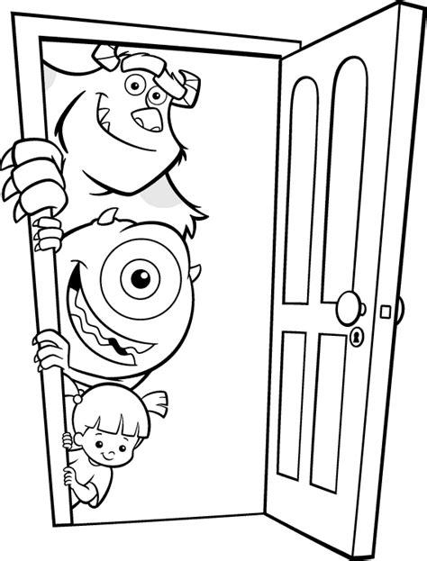 Dibujos Para Colorear De La Pelicula Monster Inc Imagui Inc Dibujos A Color
