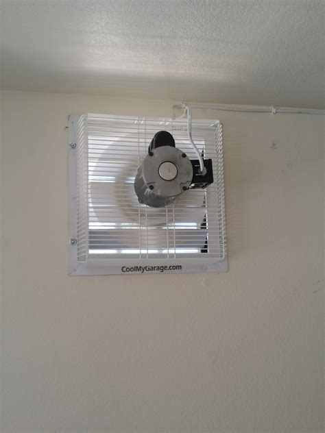 in wall exhaust fan for garage gft 18 through wall garage fan cool my garage