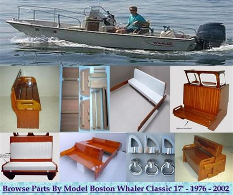 Boston Whaler Classic 17' montauk parts and accessories. Seating, railing, lighting. Boston