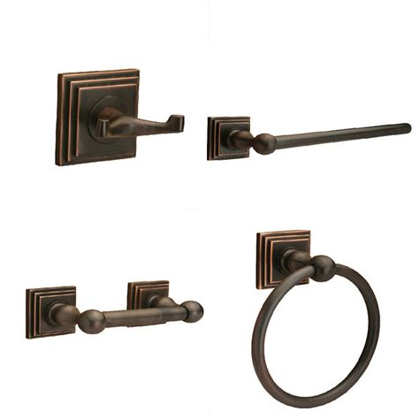 Rubbed Bronze Bathroom Accessories Sure Loc Rubbed Bronze Pueblo 4 Bathroom Accessory Set Contemporary Bathroom