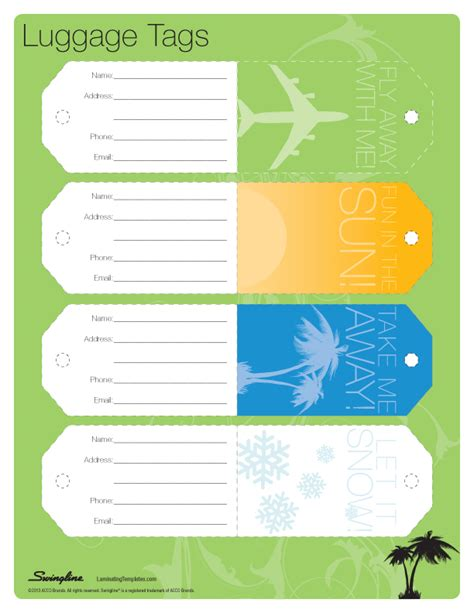 luggage tags template image gallery luggage tag template