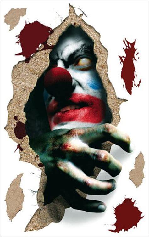 Environmental Graphics Wall Murals evil clown halloween applique sale