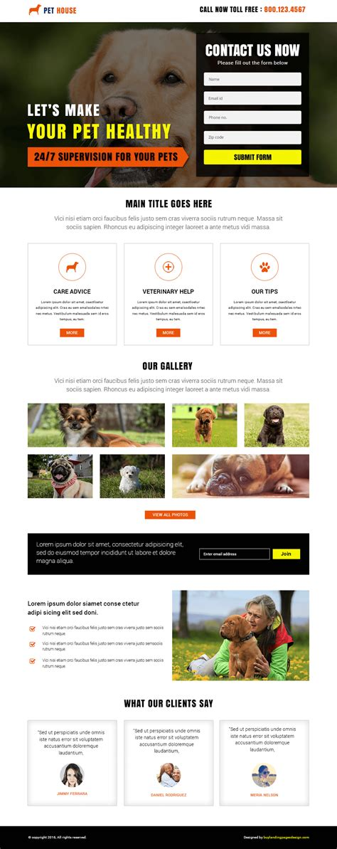 pet house design best responsive animal pet house template buy landing pages design