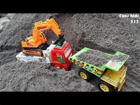 Mainan Mobil Truck Pasir Pc 8047 excavator mainan dan mobil kontainer mainan pengangkut tanah
