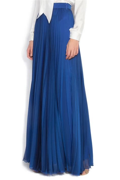 pleated silk blend maxi skirt maxi skirts made to measure