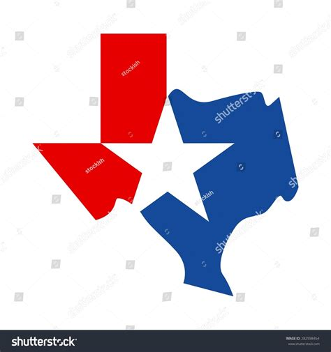 texas map logo map of texas texas logo icon template vector 282598454