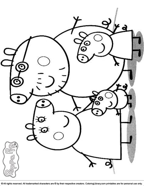 free coloring page peppa pig free coloring pages of peppa pig sugar