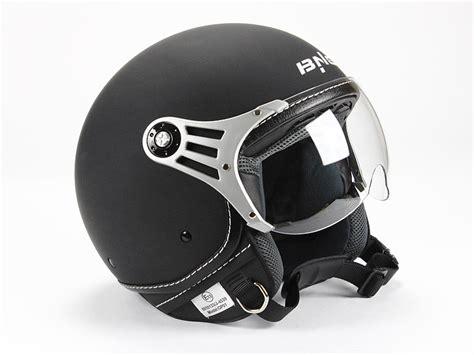 Roller Lackieren Matt Schwarz by Jethelm Motorradhelm Nostalgie Roller Helm Matt Schwarz