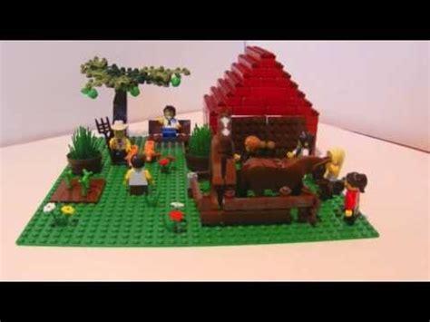lego farm house and lego barn lego city contest winner custom farm scene youtube