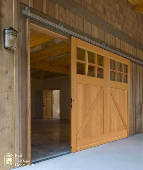 Single Sliding Barn Door For A Garage Door O U T D O O R Garage Barn Doors