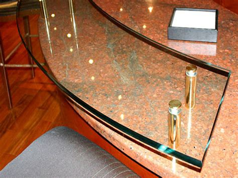 Raised Countertop Supports by Raised Bar With Brass Standoffs Cbd Glass