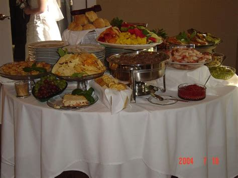 simple buffet idea could do several tables food