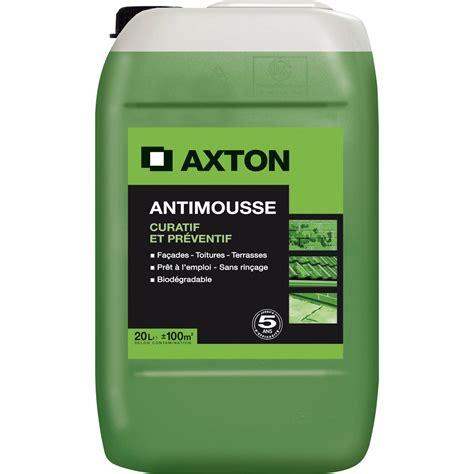 Produit Nettoyage Toiture Professionnel 1232 by Antimousse Axton Pr 234 T 224 L Emploi 20 L Leroy Merlin