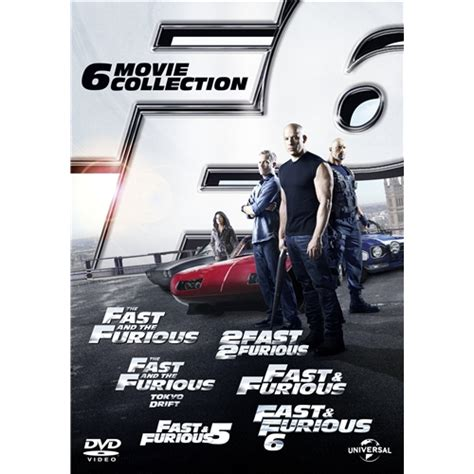 fast and furious box set 1 6 fast and furious 1 6 dvd 2012 6 disc box set ebay