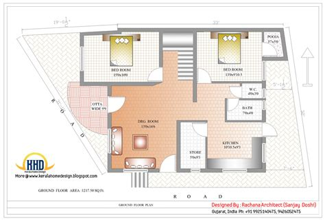 indian house floor plan indian home design with house plan 2435 sq ft indian home decor